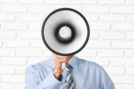 advertisement: Megaphone, Using Voice, Advertisement.