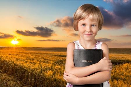 blond girl: Bible, Child, Christianity.