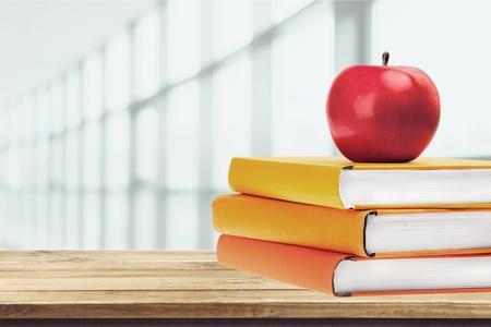 school books: School, Book, Apple.