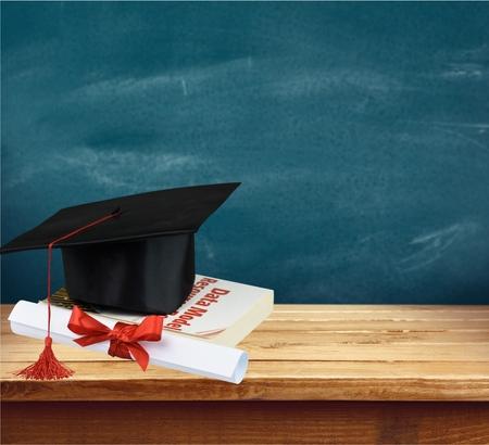 mortar board: Graduation, Mortar Board, Certificate.