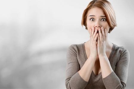 young fear: Women, Fear, Shock.