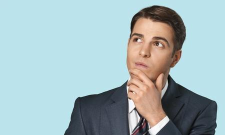 raised eyebrows: Thinking, Men, Business.