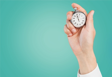 Time, clocking, clock. Stock Photo