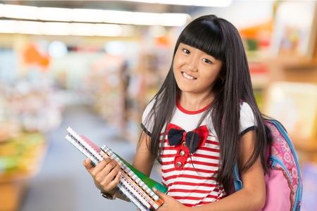 elementary student: Teenage Girls, Elementary Student, Teenager. Stock Photo