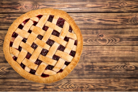 Pie, Cherry Pie, Dessert. Stock Photo