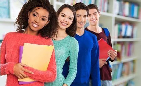eager: Student, High School Student, College Student. Stock Photo