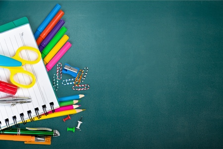 primary colours: Back to school, school, background.