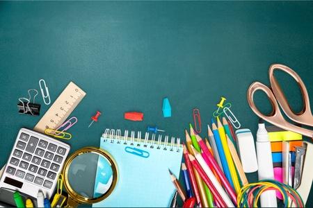 Volver a la escuela, la escuela, fondo.