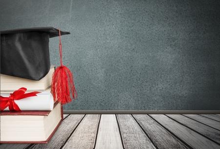 learned: Graduation, roll, learned. Stock Photo