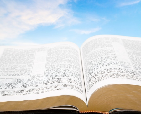protestant: Bible, open, book. Stock Photo