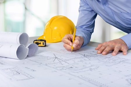 Architect, engineer, designer. Stock Photo