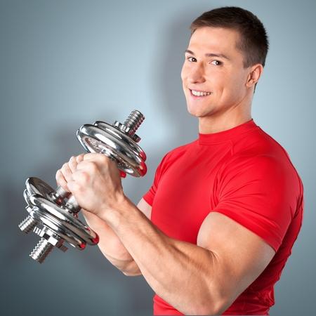 Stretching, fitness, man.