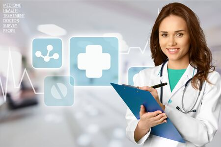 a doctor: Doctor, Female Doctor, Women. Stock Photo