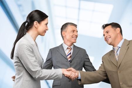 Overeenkomst, lichaam, zaken. Stockfoto