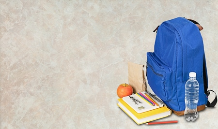 child school: Backpack, Child, School Supplies.