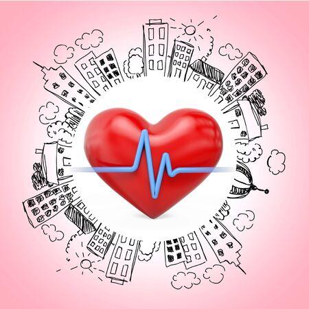 conduction: Human Heart, Heart Shape, Healthcare And Medicine.