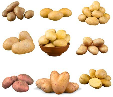 raw potato: Raw Potato, Isolated, Agriculture.