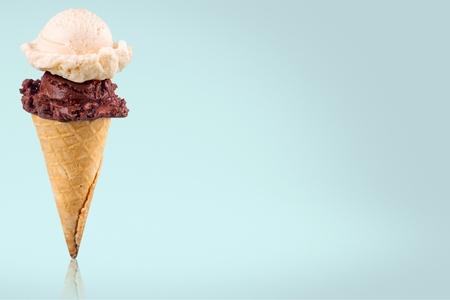 Ice, cream, cone.