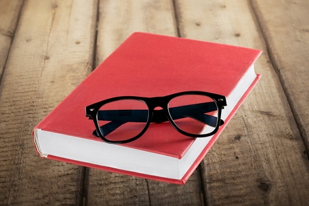 instruction manual: Book, Glasses, Instruction Manual. Stock Photo