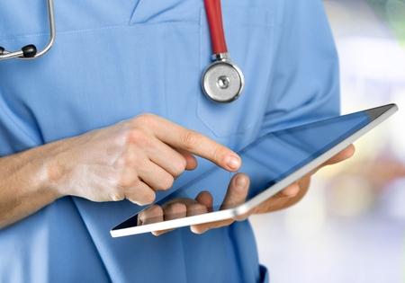 personal digital assistant: Healthcare And Medicine, Doctor, Digital Tablet.