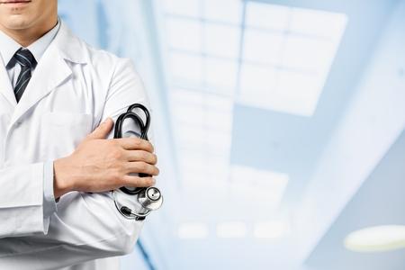 americana: Doctor, paciente, médico. Foto de archivo