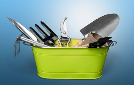 gardening equipment: Gardening, Gardening Equipment, Isolated. Stock Photo