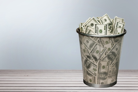 money to burn: Garbage, Currency, Money to Burn. Stock Photo