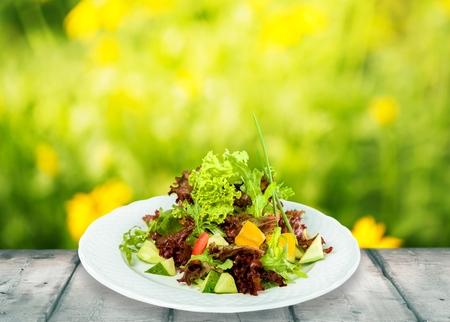 Salad, Vegetarian Food, Lettuce.