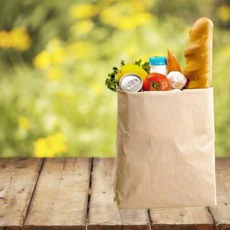 paper bag: Bag, Groceries, Shopping.
