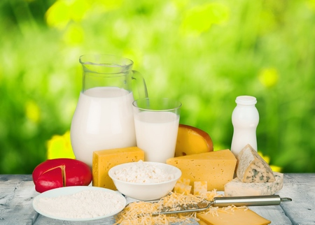 Dairy Product, Milk, Cheese. Stock Photo