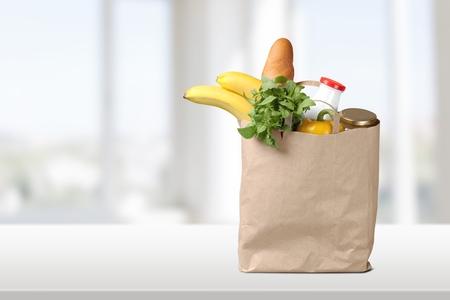 paper bag: Groceries, Paper Bag, Bag.