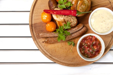 comida alemana: Alemán, comida, bratwurst.