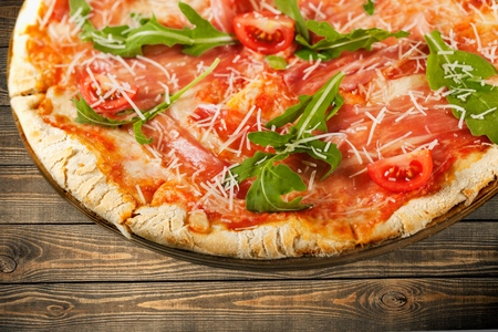 unhealthy eating: Pizza, Food, Unhealthy Eating. Stock Photo