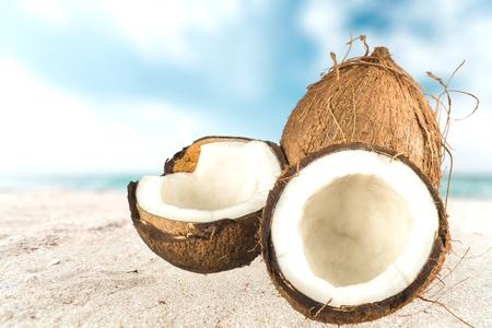 Coconut, Fruit, Tropical Fruit.