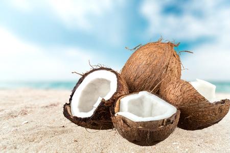clima tropical: Coco, Tropical, Fruta. Foto de archivo