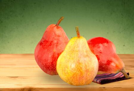 concept images: Pear, Fruit, Red. Stock Photo