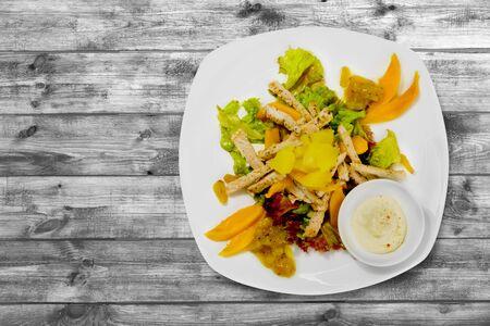 caesar salad: Salad, Caesar Salad, Caesar. Stock Photo