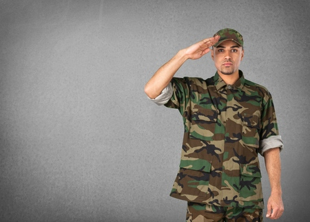 military: Armed Forces, Military, Saluting.