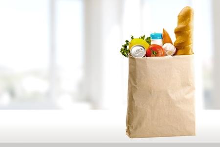 bolsa de pan: Bolsa, Comestibles, Compras.