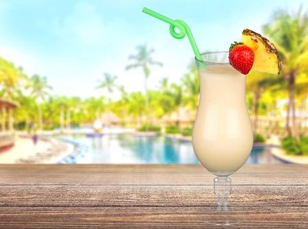 pina colada: Cocktail, Pina Colada, Drink. Stock Photo