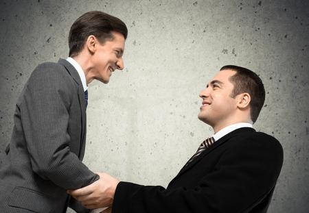 business relationship: Handshake. Stock Photo