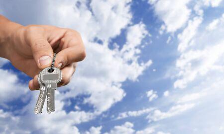hand key: Key, Human Hand, Giving.