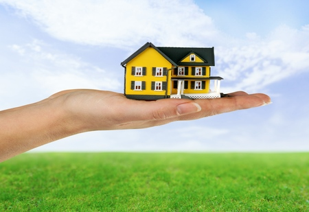 residential structure: House, Human Hand, Residential Structure.
