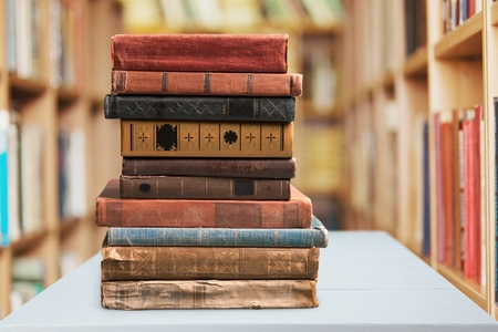 old books: Books, old, stacked.