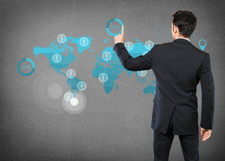 Marketing, onderzoek, labyrint. Stockfoto