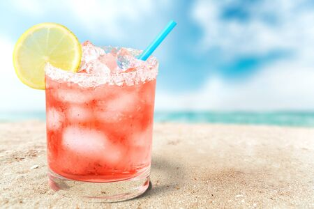 icecube: Cocktail, Drink, Summer. Stock Photo