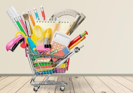 utiles escolares: Educación, regreso a la escuela, de compras.