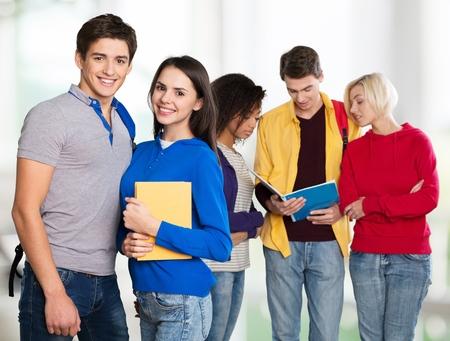 adolescente: Estudiantes. Foto de archivo