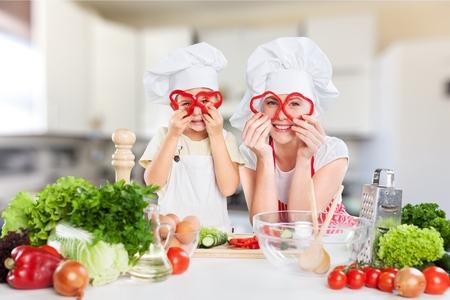 eating salad: Kid. Stock Photo
