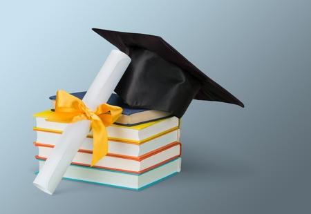 mortar hat: Graduation.